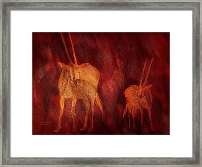 Moods Of Africa - Gazelle Framed Print