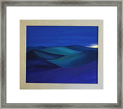Moody Blue Framed Print by Aileen Carruthers