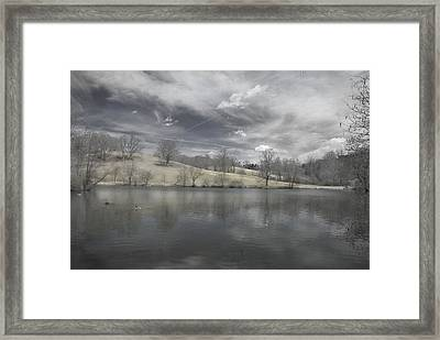 Moody Blue Framed Print by Cindy Rubin