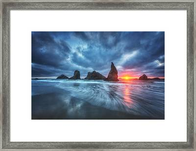 Moody Blues Of Oregon Framed Print by Darren  White