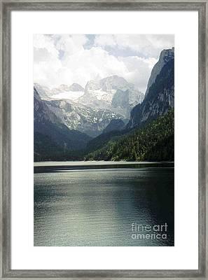 Moody Dachstein Framed Print