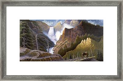 Moody Falls  Framed Print by Gregory Perillo