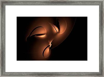 Framed Print featuring the digital art Moody by GJ Blackman