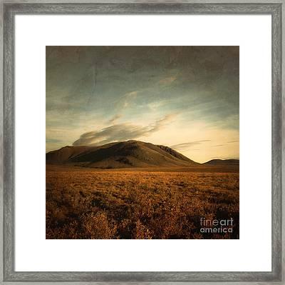 Moody Hills Framed Print by Priska Wettstein