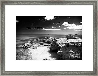 Moody In Cascais Framed Print by John Rizzuto