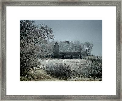 Moody Manitoba Morning Framed Print