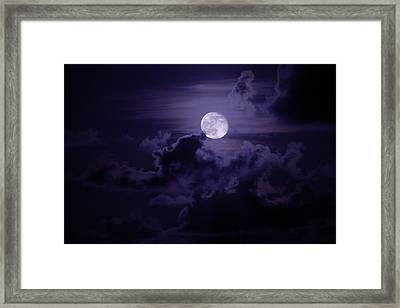 Moody Moon Framed Print by Chad Dutson