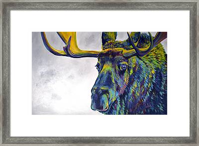 Moody Moose Framed Print by Teshia Art