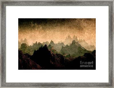 Moody Mountains Framed Print