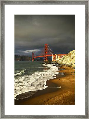 Framed Print featuring the photograph Moody On Gold  by Michael Hope