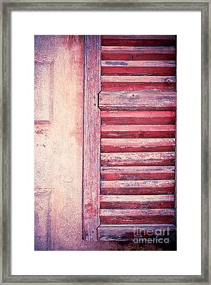 Moody Weathered Shutter Framed Print by Silvia Ganora