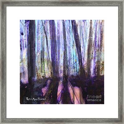 Moody Woods Framed Print by Robin Maria Pedrero