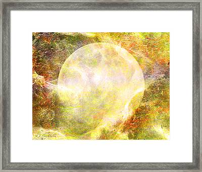 Moon Abstract Framed Print by J Larry Walker
