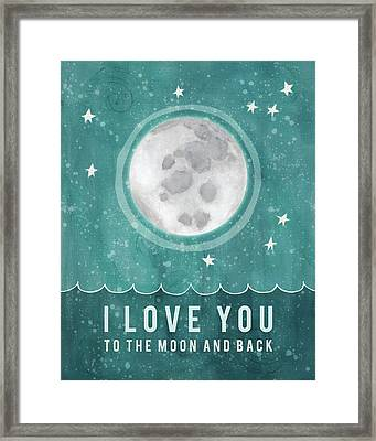 Moon And Back Framed Print by Lisa Barbero
