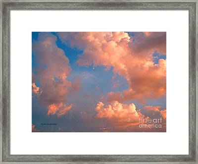 Framed Print featuring the photograph Moon And Clouds by Joan Hartenstein
