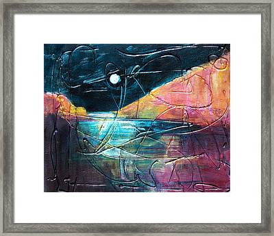 Moon And Lagune Framed Print by Betty Pieper