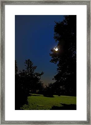 Framed Print featuring the photograph Moon And Pegasus by Greg Reed