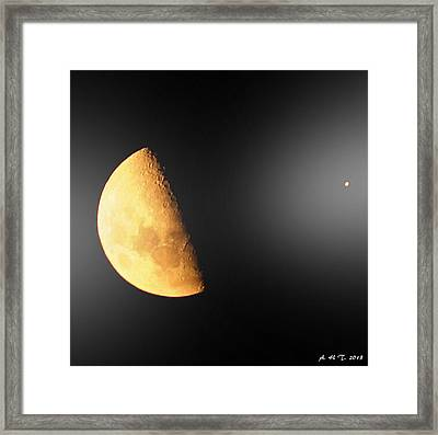 Moon And Star Converse Framed Print by Amanda Holmes Tzafrir