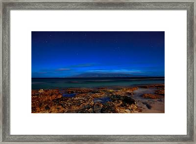 Moon And Star Light Framed Print