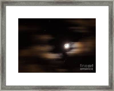 Moon And Stars II Framed Print by Judy Wolinsky