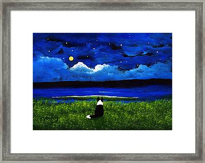 Moon And Stars Framed Print by Todd Young