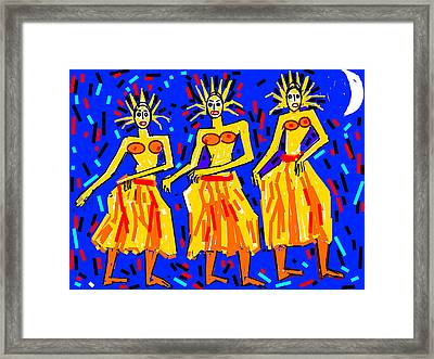 Moon And The Three  Framed Print by Anand Swaroop Manchiraju