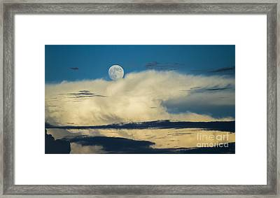 Moon And Thunderclouds Framed Print by Dustin K Ryan