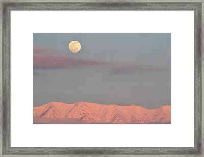 Moon And Timp Framed Print by William Alsobrook