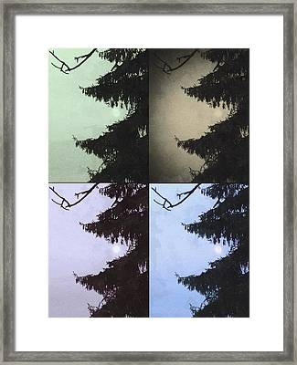 Framed Print featuring the photograph Moon And Tree by Photographic Arts And Design Studio