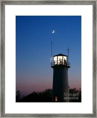 Moon And Venus Framed Print by Chris Cook