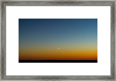 Moon And Venus I Framed Print by Marco Oliveira