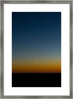 Moon And Venus II Framed Print by Marco Oliveira