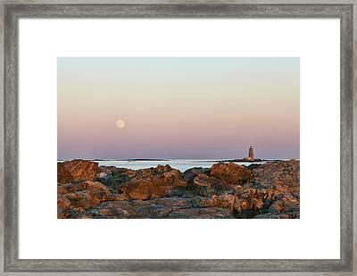 Moon And Whaleback Framed Print