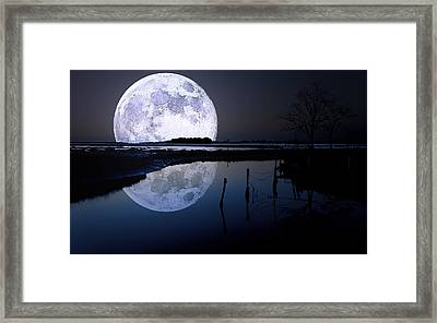 Moon At Night Framed Print by Gianfranco Weiss