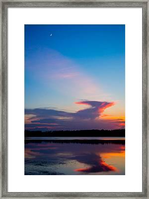 Moon At Sundown Framed Print by Parker Cunningham