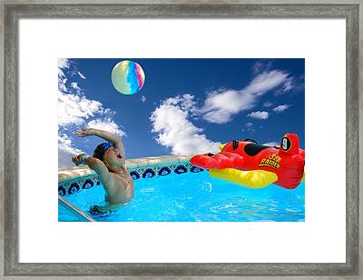 Moon Ball Framed Print by Roy Williams
