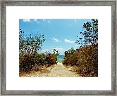 Framed Print featuring the photograph Moon Bay Walk by Amar Sheow