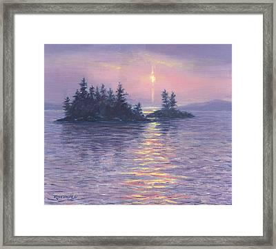 Moon Beam Framed Print by Richard De Wolfe