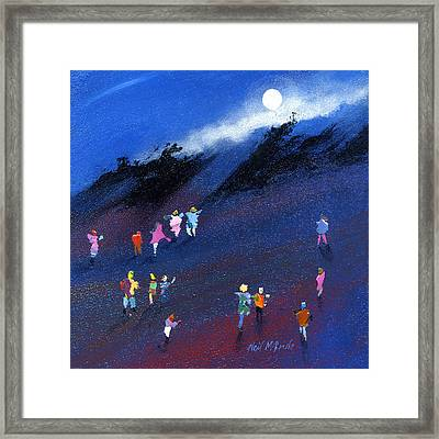 Moon Beam Search Framed Print by Neil McBride