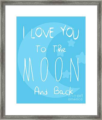 Moon Blue Framed Print