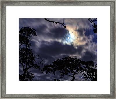 Moon Break Framed Print by Peta Thames
