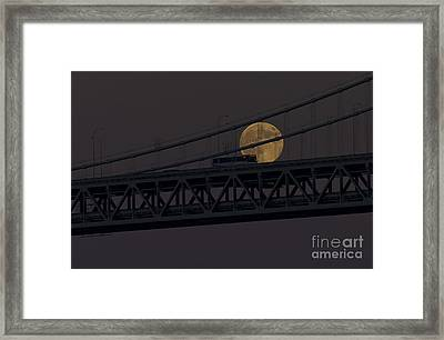 Framed Print featuring the photograph Moon Bridge Bus by Kate Brown