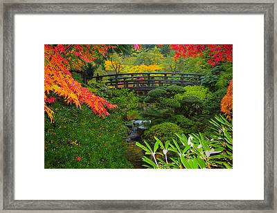 Moon Bridge To Enchantment Framed Print by Patricia Babbitt