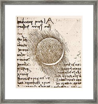 Moon By Earthlight Framed Print by Sheila Terry