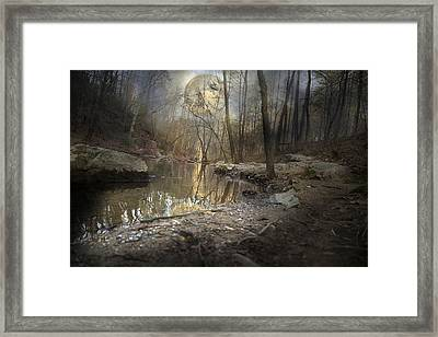 Moon Camp Framed Print