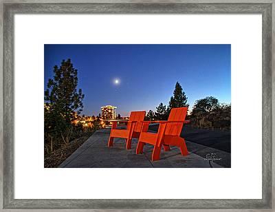 Moon Chairs Framed Print by Dan Quam