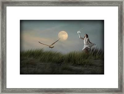 Moon Child Framed Print by Hazel Billingsley