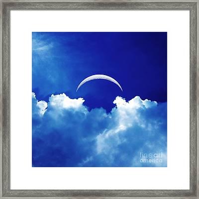 Moon Cloud Framed Print