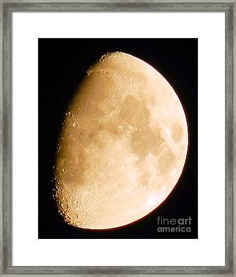 Moon Craters Galore Framed Print