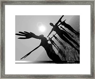 Moon Dancers Framed Print